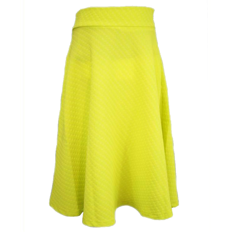 Yellow Square Print Skirt