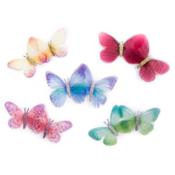 Double Butterfly Colourful Hairclip