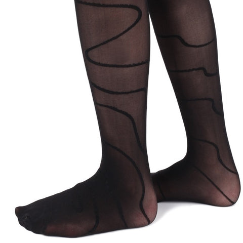Whimsical Wave Girls Tights