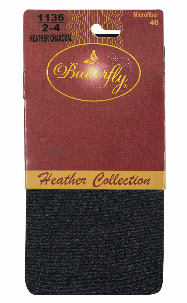 Microfibre Heather Girls Tights