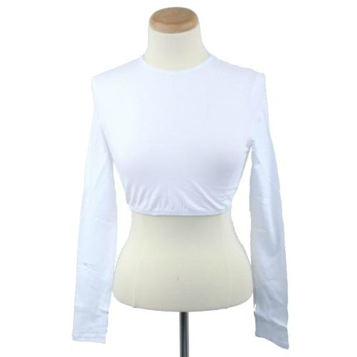 Adult Long Sleeve Crop Tops