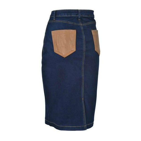 Denim Stitched Skirt