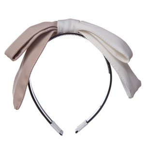 Large Bow Two-Coloured Hairband