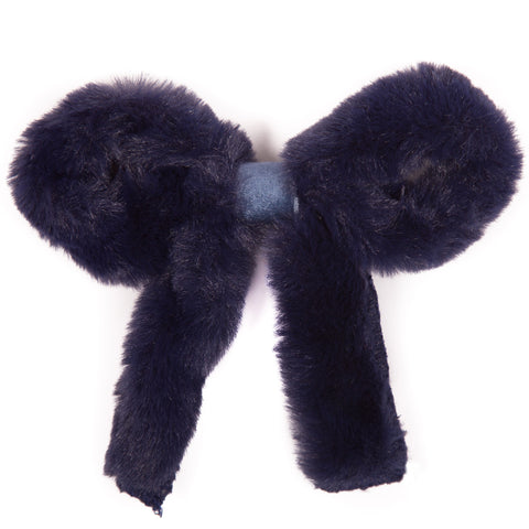 Fluffy Bow Hairclip
