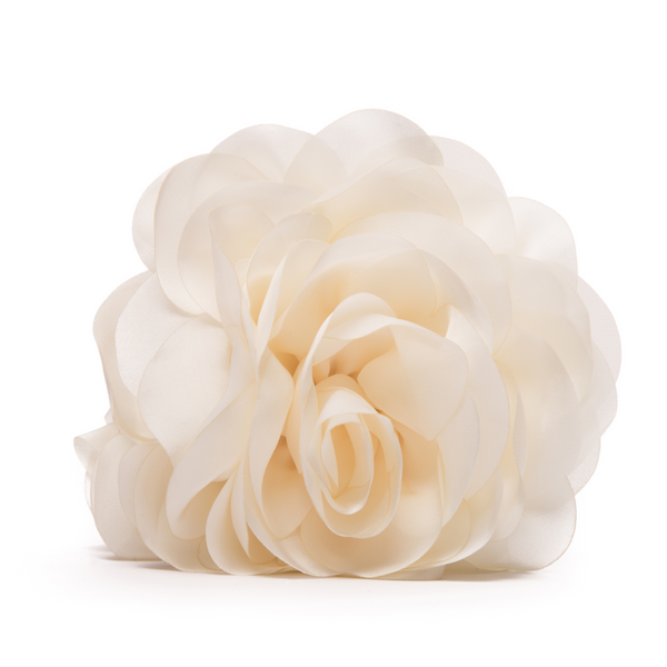 Large Cream Flower Pinch Clip