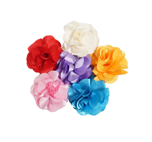Silk Rose Flower Clip - 4""
