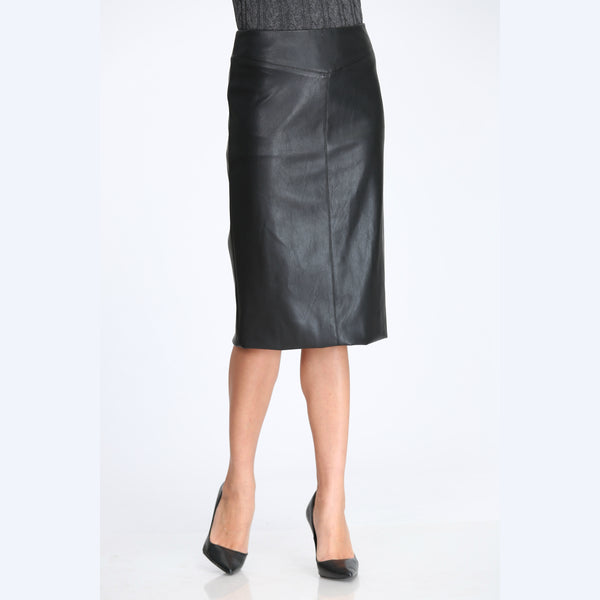 Ladies Pencil Leather Skirt
