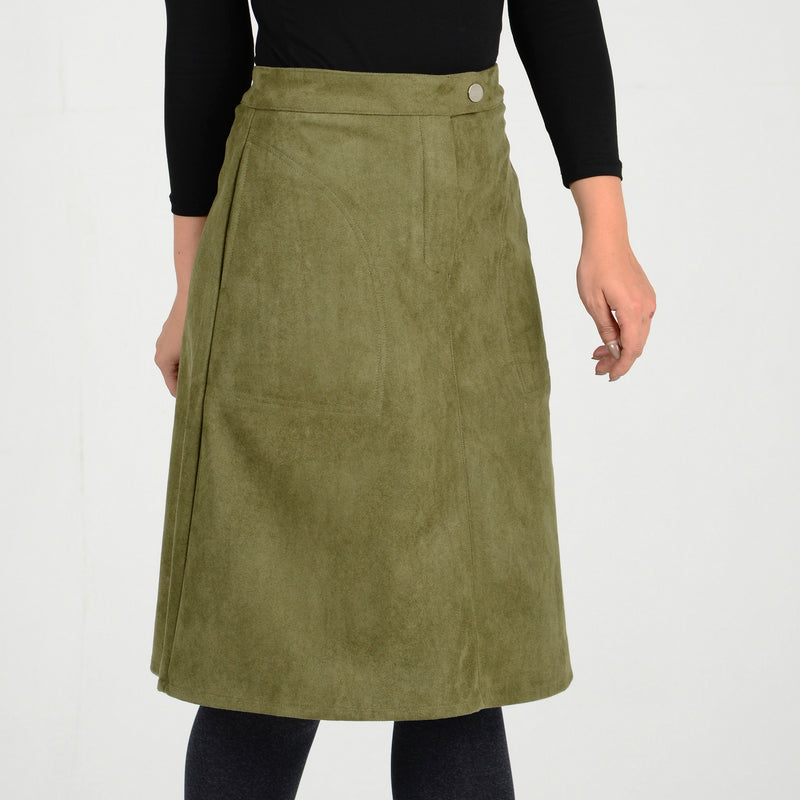 Adult Suede A-line Skirt