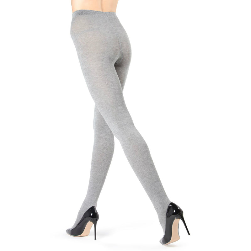 MEMOI Ladies Solid Cotton Knit Tights