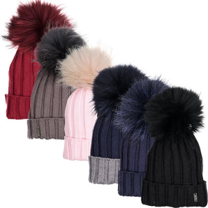Fur Pom Pom Winter Hat