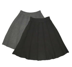 Girls Vertical Stripe Knit Skirt