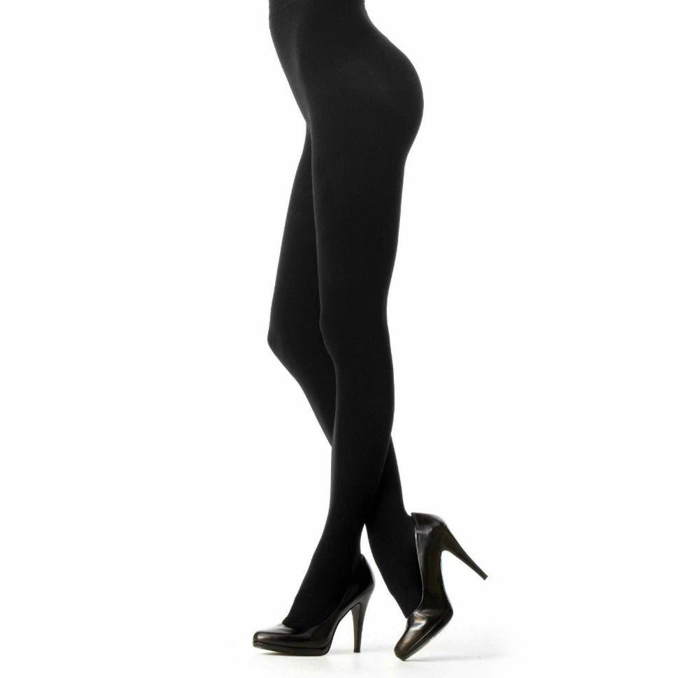 VIOLET Opaque Control Top Tights - 2 Pack