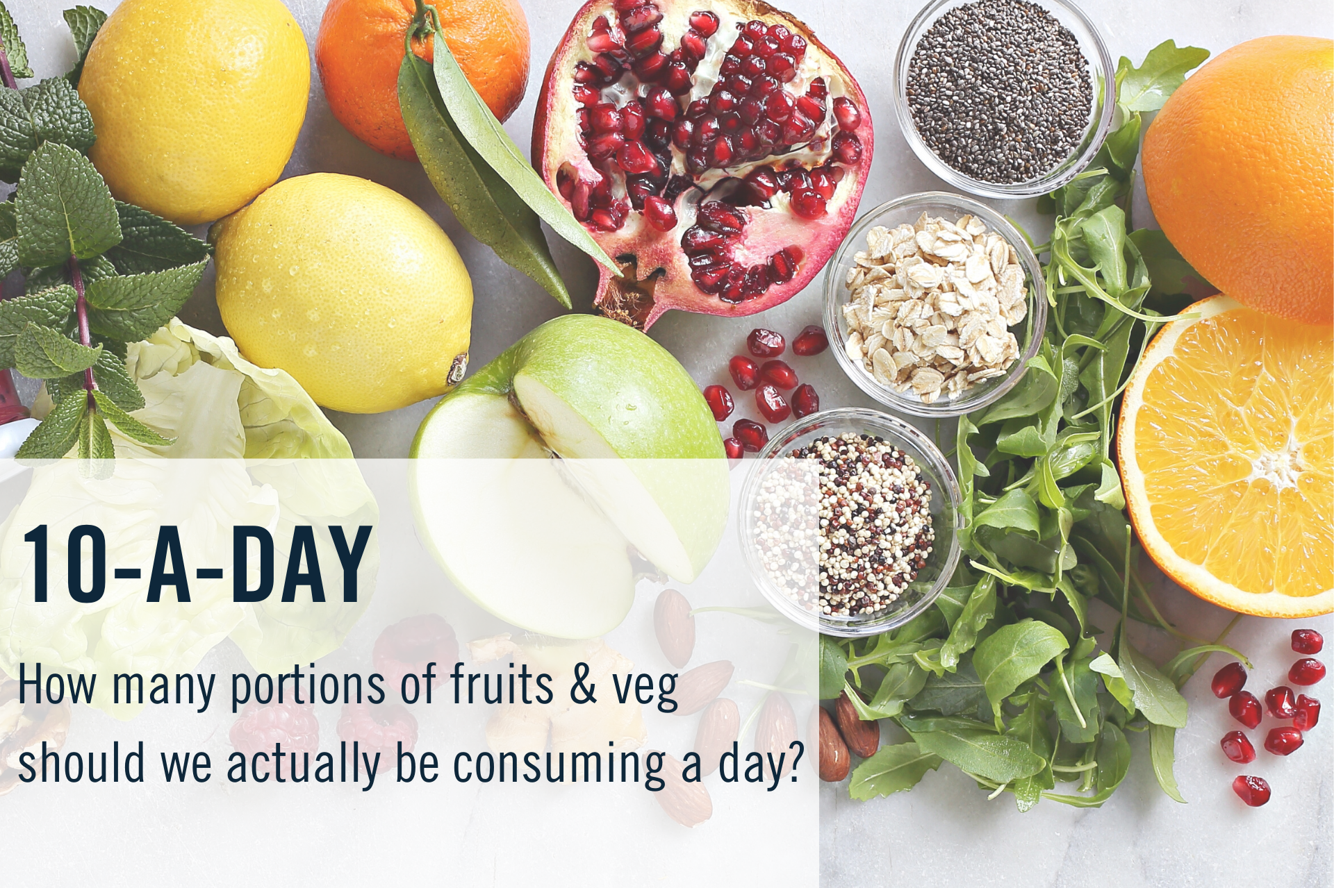 How many portions of fruit & veg should we be consuming a day?