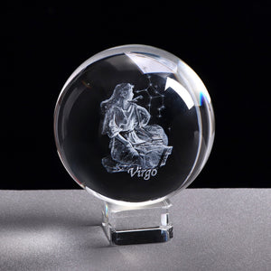 Virgo Crystal Globe