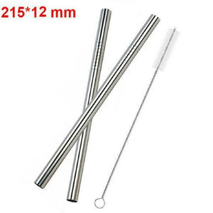 Reusable Stainless Steel Straws [Pack of 4]