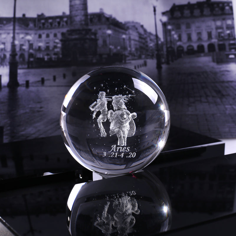 Aries Crystal Globe