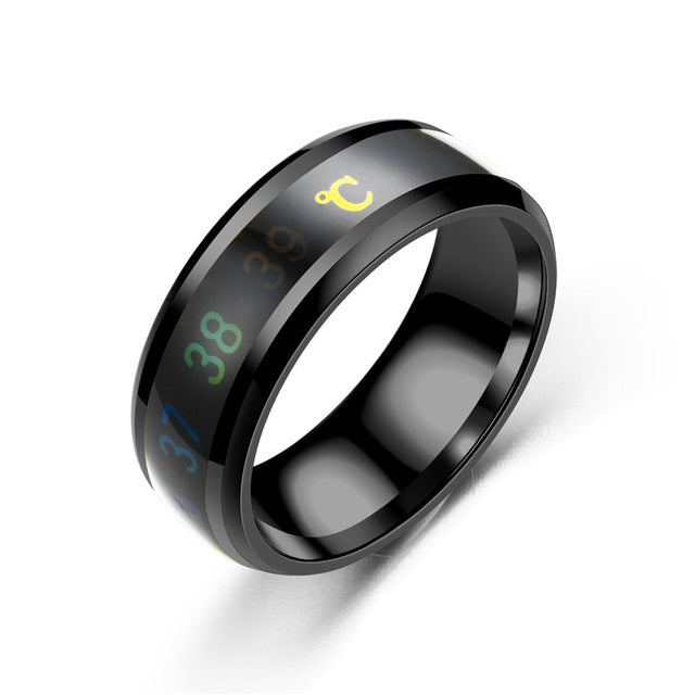 INTELLIGENT CRYSTAL TEMPERATURE DISPLAY RING