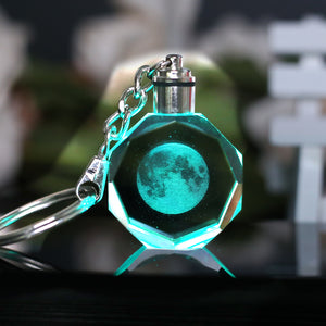 LED Moon Keyring