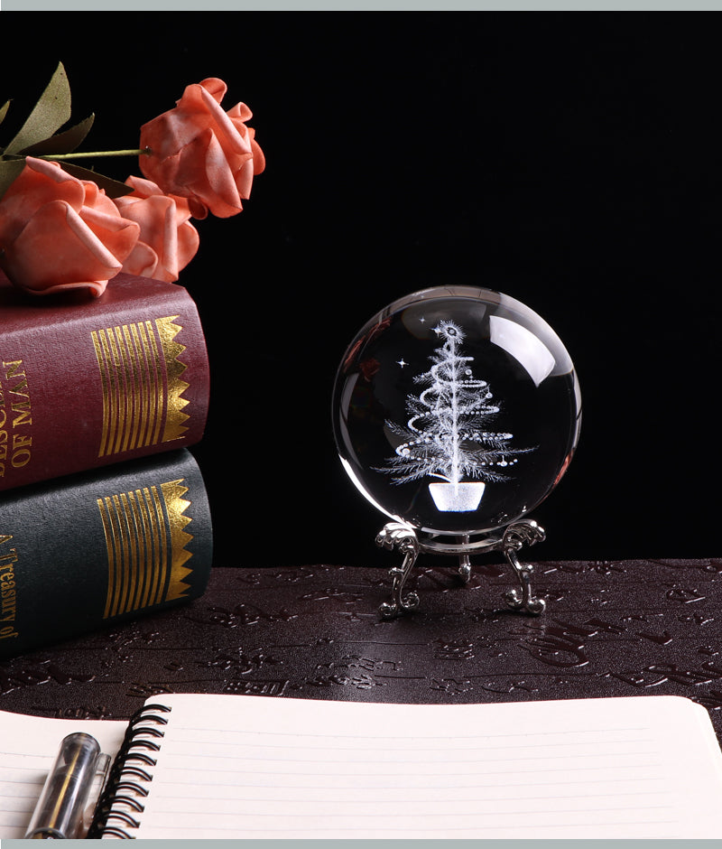 Christmas Tree Crystal Globe