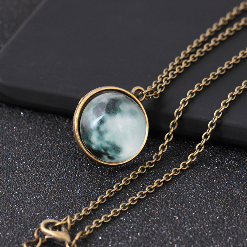 3D Luminous Moon Necklace