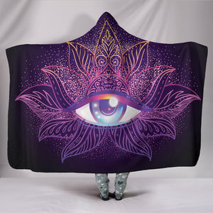 Purple Eye Hooded Blanket