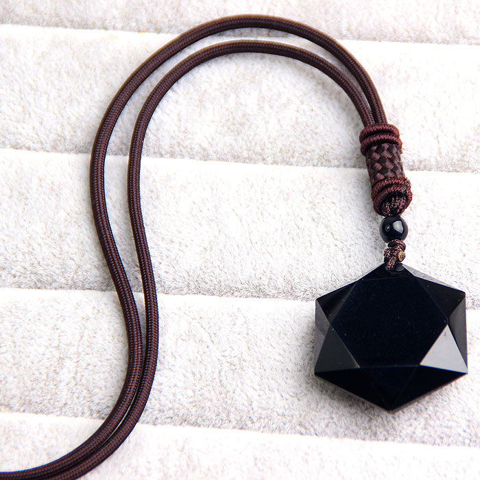 Obsidian Star Necklace