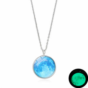 Luminous Dark Moon Necklace