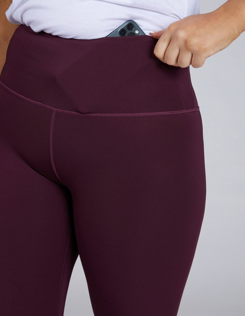 Pinot Plum 7/8 Full length Sustainable Leggings with phone pocket