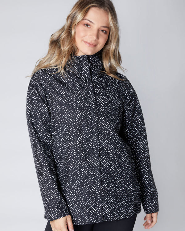 Elements Waterproof Jacket - Speckle (s & l only)