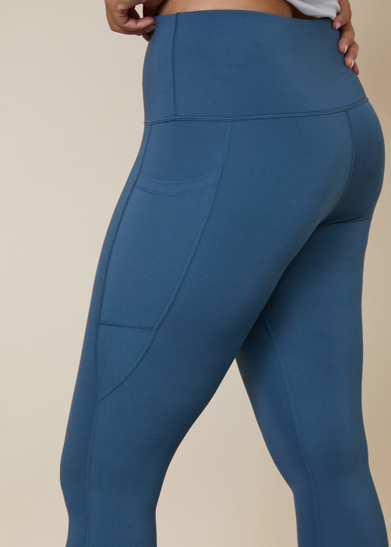 Squatproof High waisted leggings with side leg phone pocket