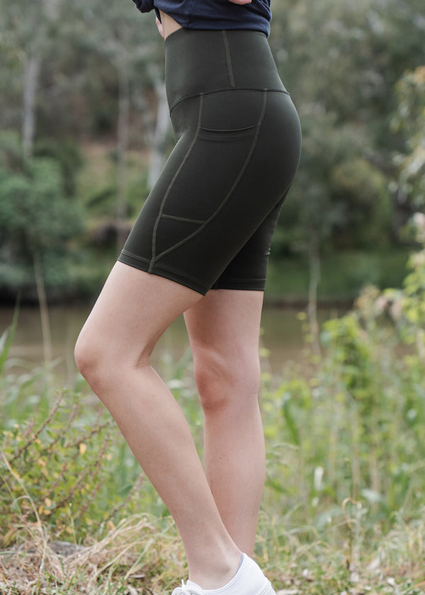 Bike Shorts - Olive (xs only)