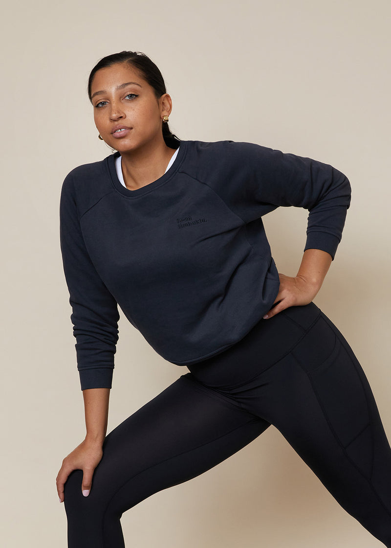 Organic Jumper - Charcoal (xs only)