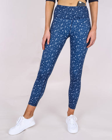 3/4 crop legging - botanical
