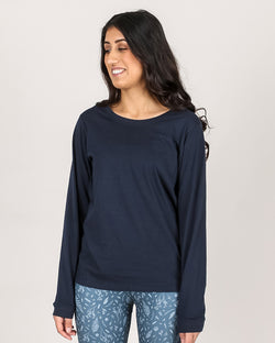 Organic Long Sleeve Tee - Navy