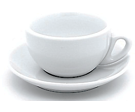 White Bowl Cappuccino Cup & Saucer
