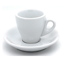White Espresso Cup and Saucer