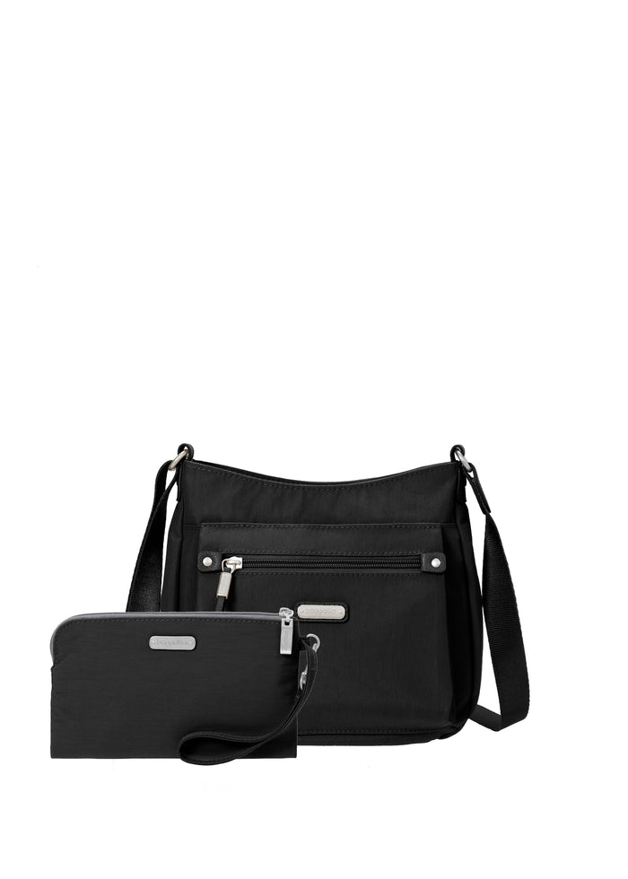 Uptown Bag - Black with wristlet