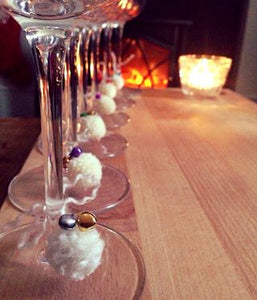 Get ready for a party with our Multipom pompom wine glass accessories - bells an' all!