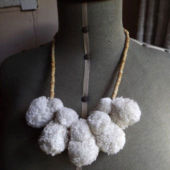 Craft cotton has been used to make this necklace. This is included in our Deluxe Kits and Braid Making Kits.