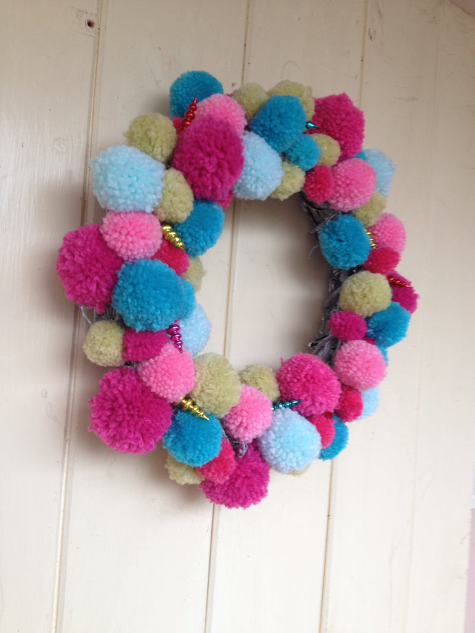 A summery wreath to brighten a door.