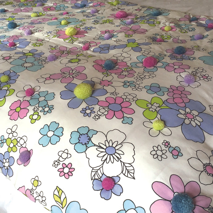 Pretty summery bedcover
