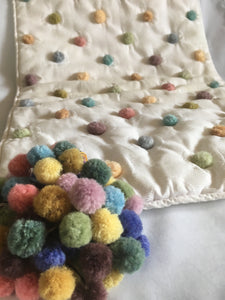 Quilting with felted pompoms