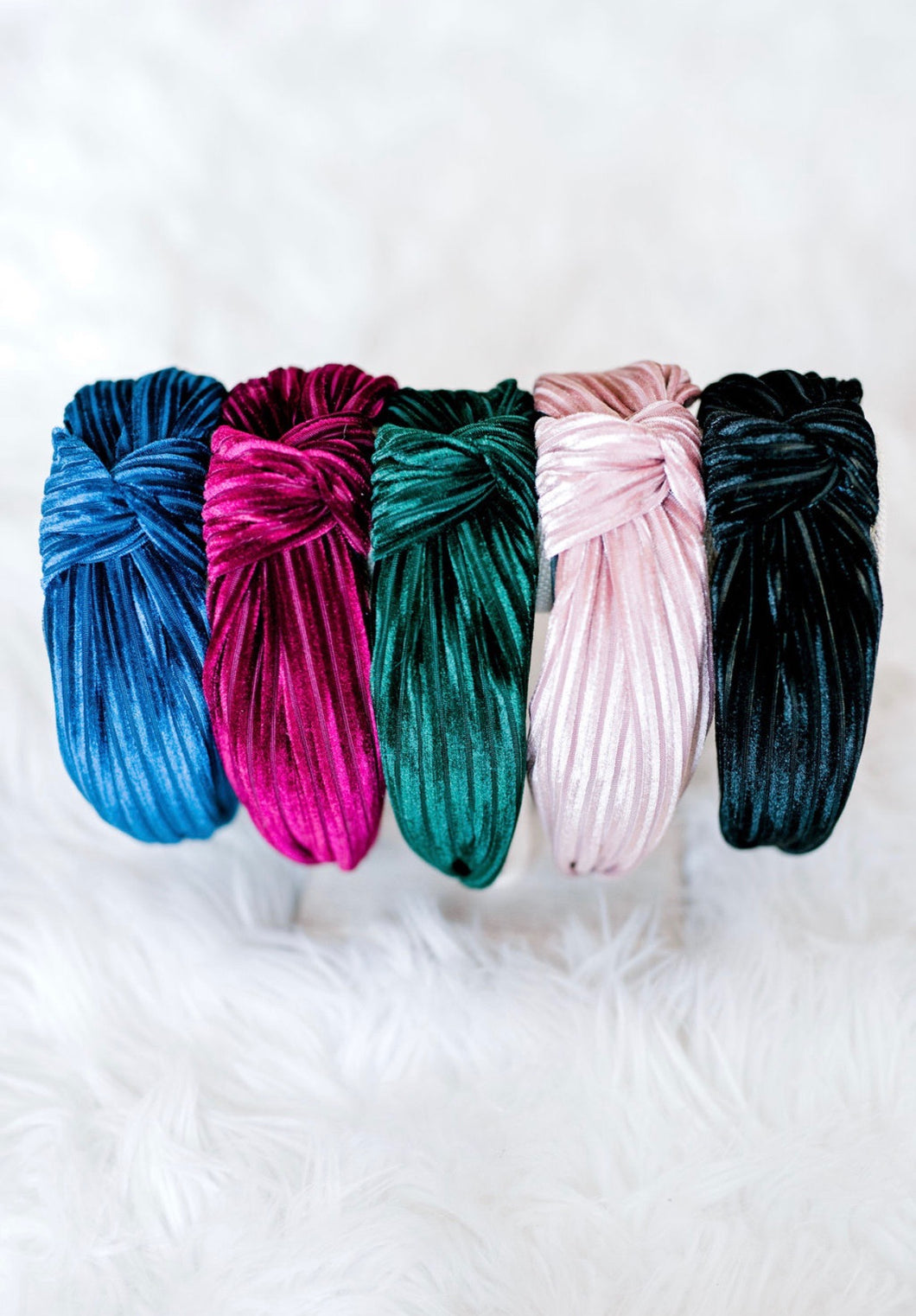 Top Knot Velvet Headband