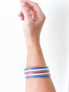 Red, White and Blue Bangles