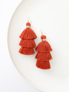 Rust Driftwood Tassels: Earring of The Month