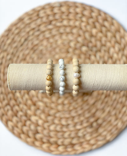 Pearls & Driftwood  (set of 3)