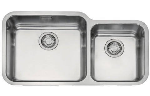 Stainless Steel Sinks: Franke Largo LAX120 45-30 2B Undermount Sink - St/Steel