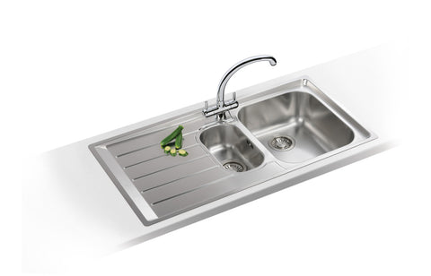 Stainless Steel Sinks: Franke Neptune NEX251 1.5B Slim-Top Inset Sink - St/Steel