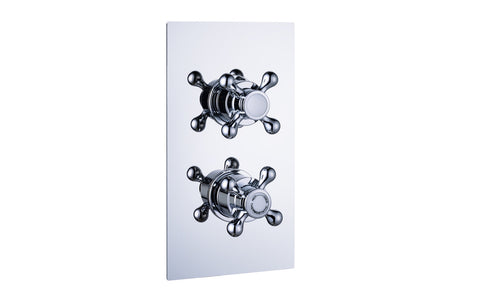 Traditional Thermostatic Twin Shower Valve