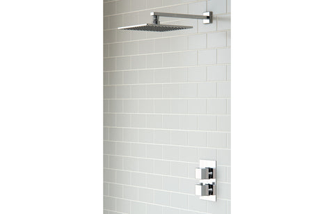 Square Shower Pack 3 - Kuba Twin Single Outlet & Overhead Shower